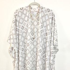 Long Embroidered Kimono Style Jacket NWT Plus Size